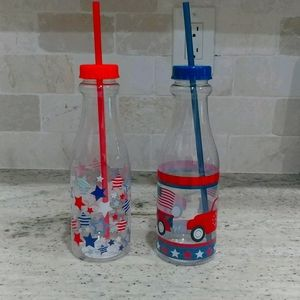 4th of July set of 2 new bottles